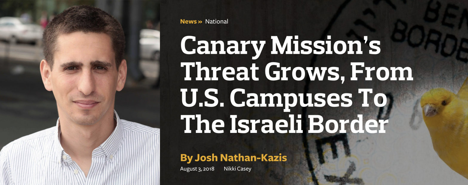 Who's Trying to Kill BDS on Campus?
