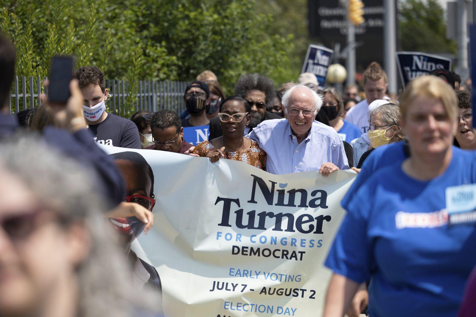 Nina Turner and Bernie Sanders